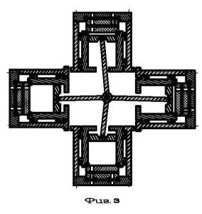 Четырех поршневой насос-компрессор